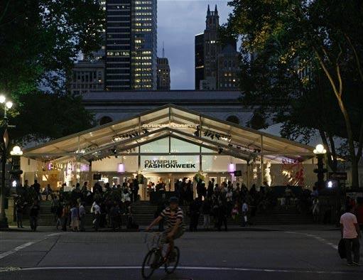 Bryant park tents