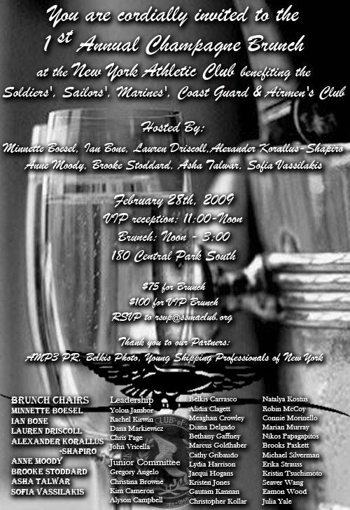 SSMAC Champagne Brunch Invitation