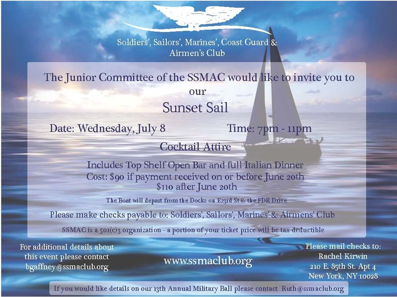 SSMAC Sunset Sail July 8th